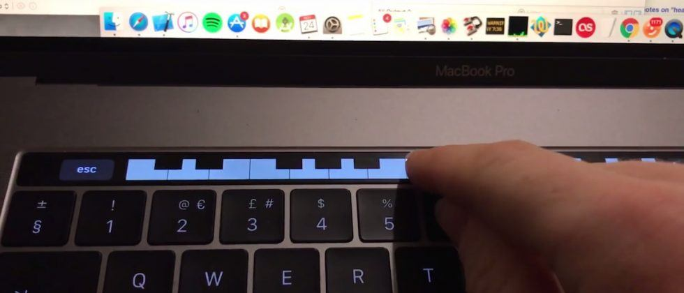 Use the MacBook Pro Touch Bar to play piano with this app