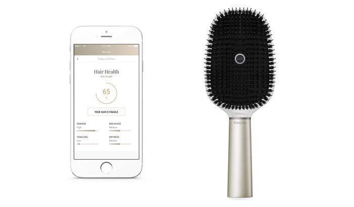 Smart hairbrush from Withings and L'Oreal monitors forceful brushing