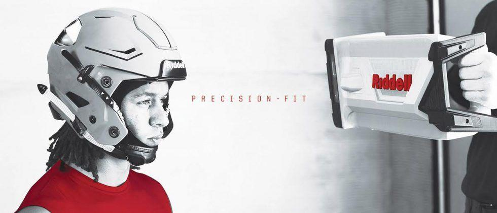 Riddell Precision-Fit tech uses 3D scanning for custom football helmets