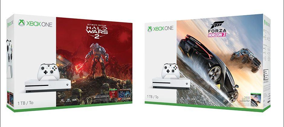 Xbox One S 1TB bundles with Halo Wars 2, Forza Horizon 3 revealed