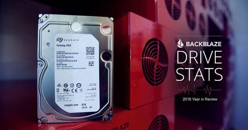 Backblaze reveals its 2016 hard drive failure rate list