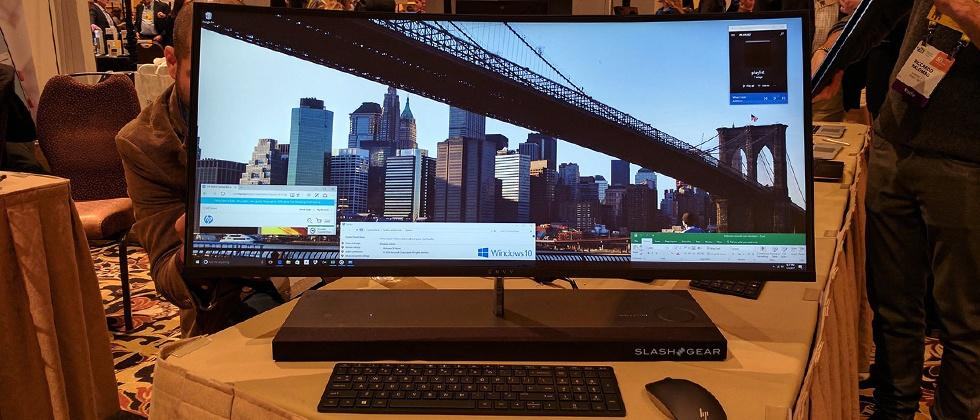 HP's Envy 34 curved all-in-one slims down for CES 2017