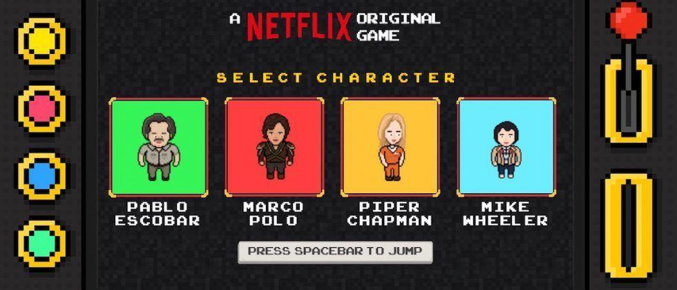 Netflix made an infinite runner browser game starring its original shows