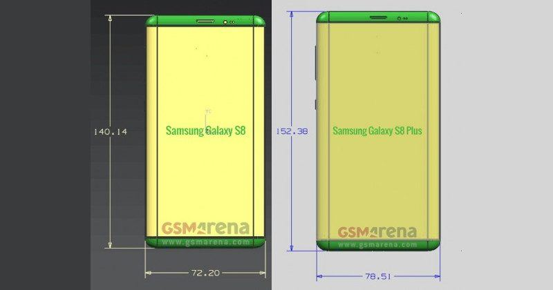 Galaxy S8, S8 Plus leaked dimensions show some interesting screens