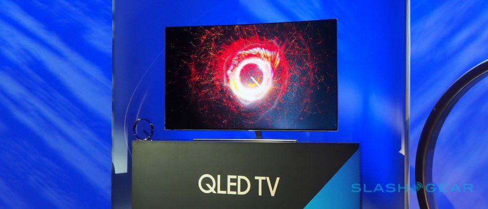 Samsung's QLED TVs wow with Quantum Dot 4K and easy mounts