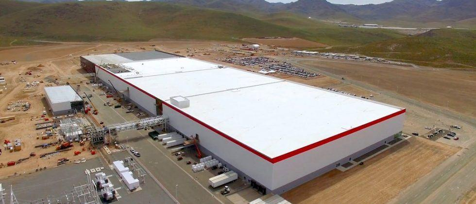 Tesla's Gigafactory fires up battery cell production line