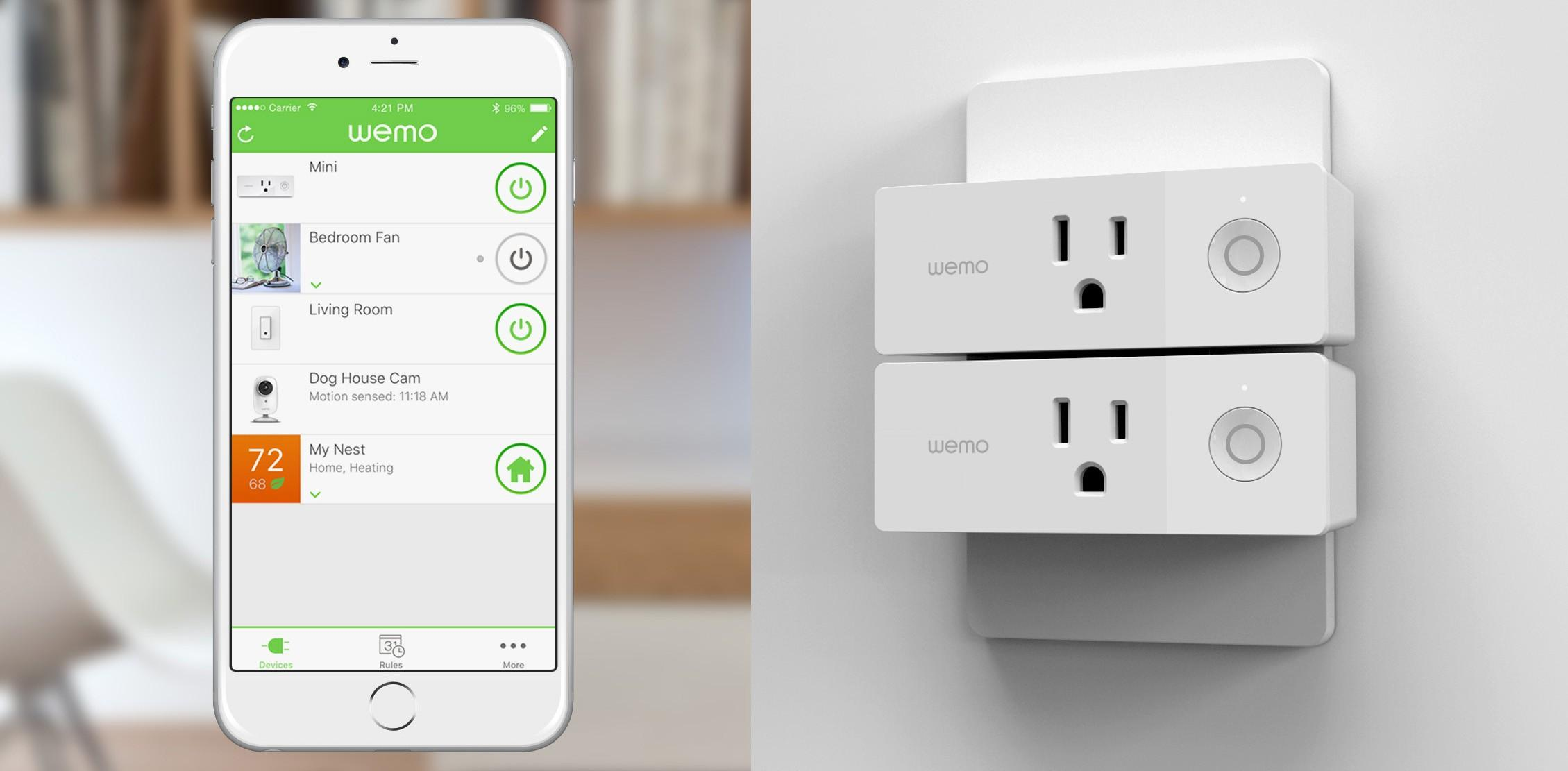 Wemo Mini Smart Plug and Dimmer Light Switch work with Nest - SlashGear