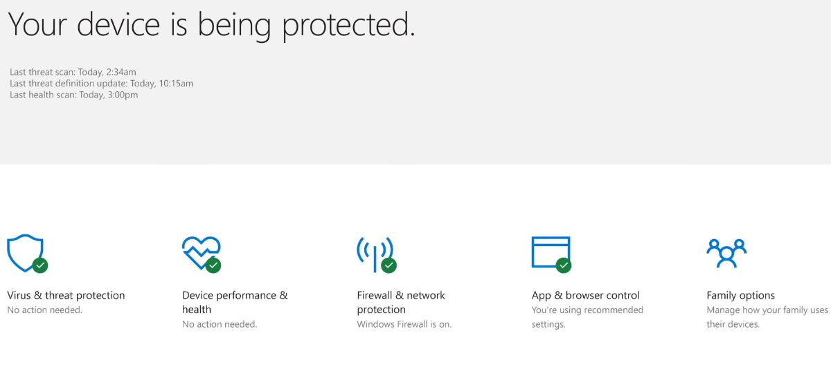 Windows Defender Security Center announced, previewed for Creators