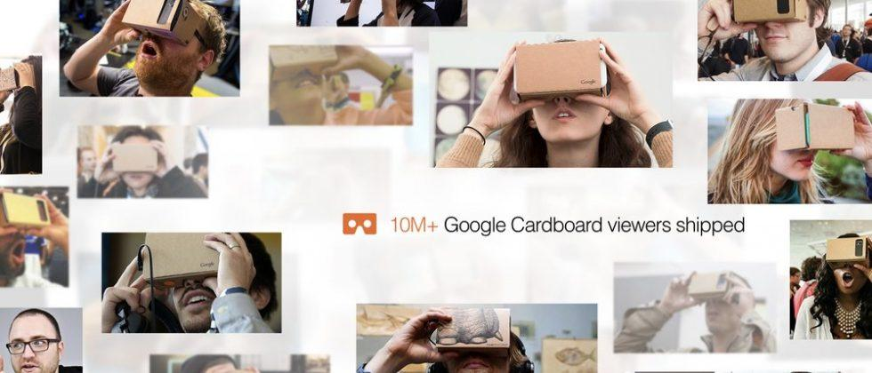 With 10m Cardboard VR shipped, Google makes huge content push