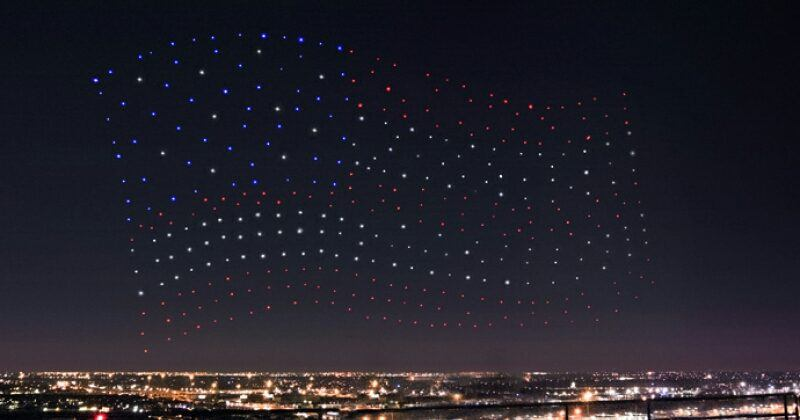 300 Intel drones light up Lady Gaga's Super Bowl act