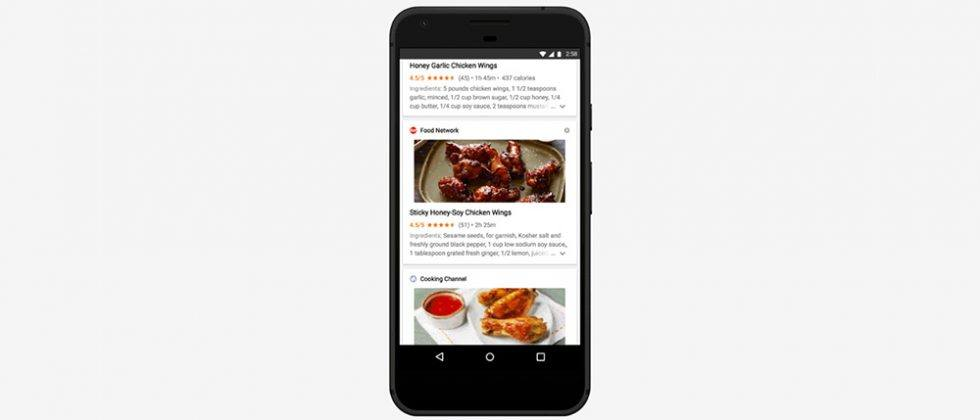 Google app now serves the top recipes for your favorite food