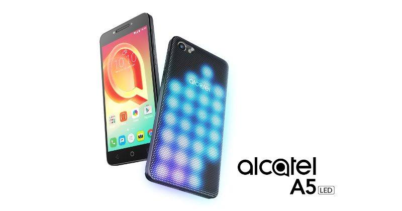 Alcatel A5 LED covered smartphone leads MWC 2017 march
