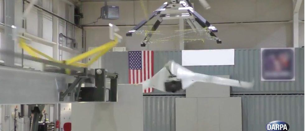 DARPA SideArm prototype snags drones out of the air