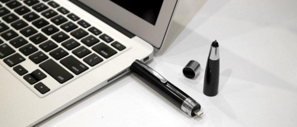 ChargeWrite is a pen with a built-in power bank and flash storage