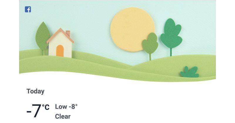 Facebook now has its own Weather mini-app - SlashGear