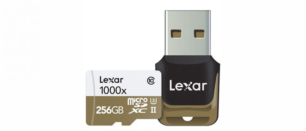 Lexar 256GB Professional 1000x microSDXC card inbound