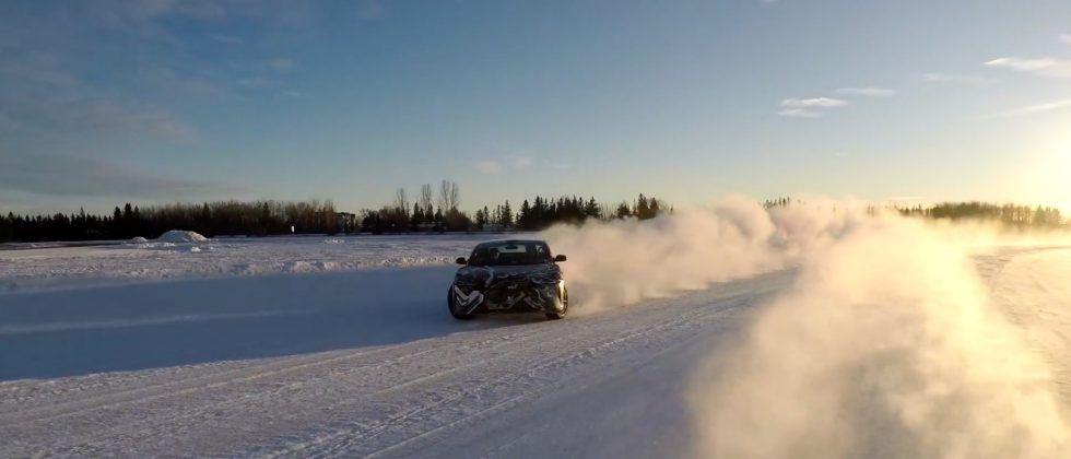 Sideways-on-ice Lucid Motors Air is best Lucid Motors Air