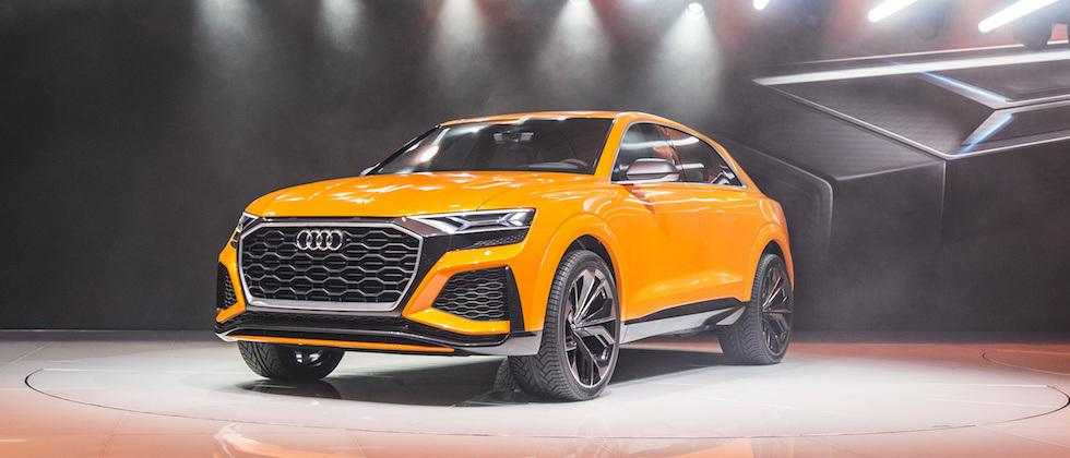 Audi Q8 sport concept teases world-first hybrid tech