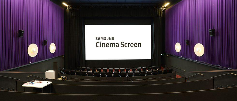 Samsung Cinema Screen is a 34ft Ultra HD screen for movie theaters