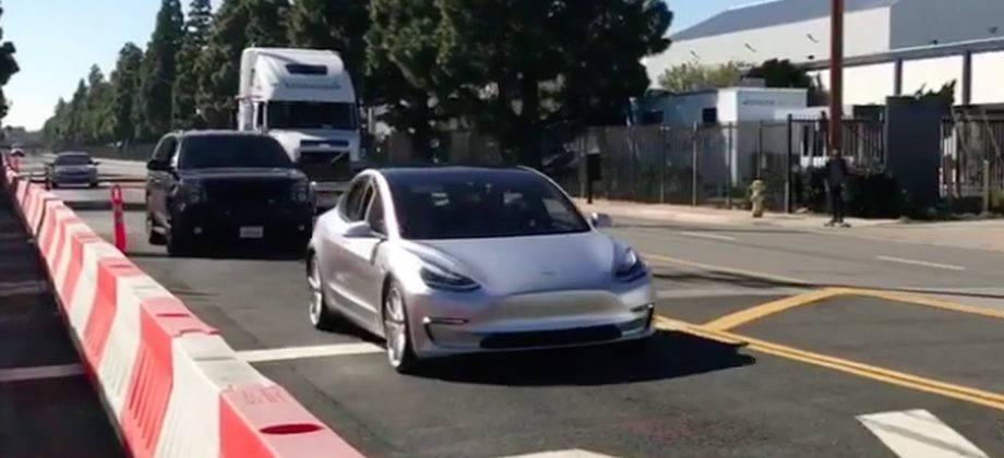 Tesla Model 3 prototype seen driving on California streets
