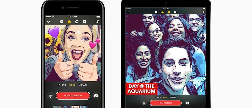 Apple Clips taps face recognition and AI to make social movies