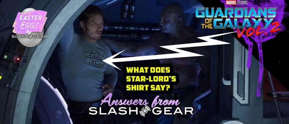 That Guardians of the Galaxy 2 shirt worn by Star Lord: what's on it?