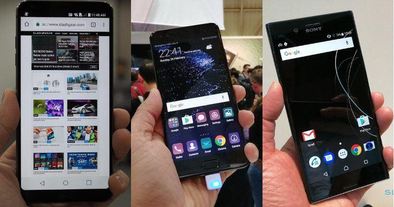 LG G6 vs. Sony Xperia XZ Premium vs. Huawei P10 Plus – MWC 2017 Mobile Showdown