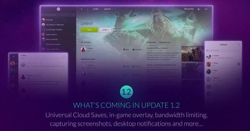 GOG Galaxy goes out of beta, adds cloud saving