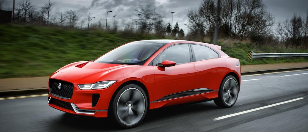 The Jaguar I-PACE got loose, and even British weather can't overshadow it