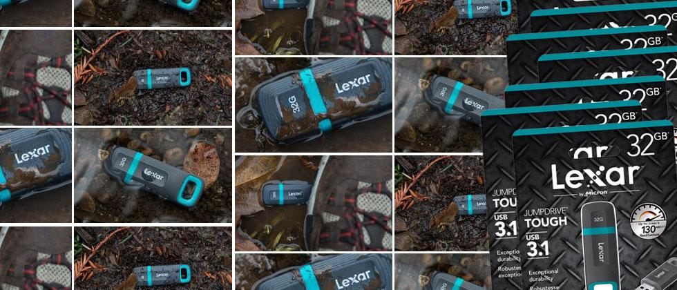 Lexar makes a new JumpDrive Tough USB stick for ruggedness