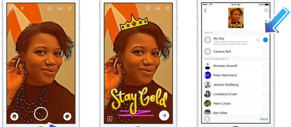 Facebook Messenger Day lifts another Snapchat feature