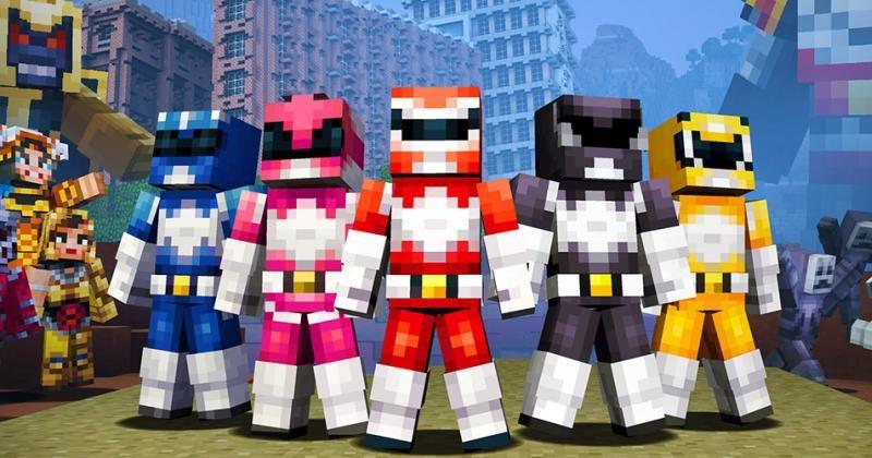 Minecraft gets some Mighty Power Rangers skins