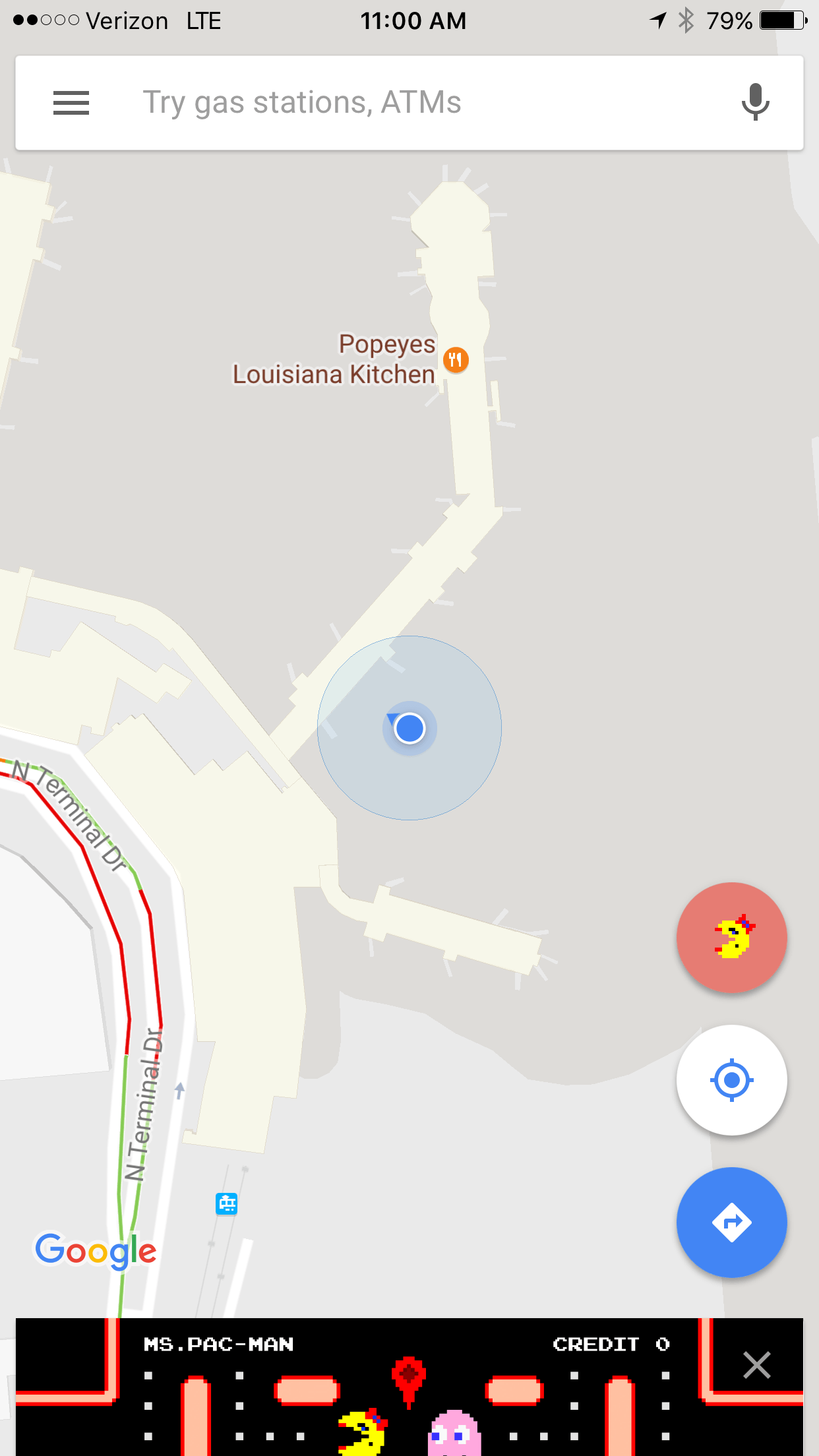 Ms  Pac-Man pays a visit to Google Maps today - SlashGear