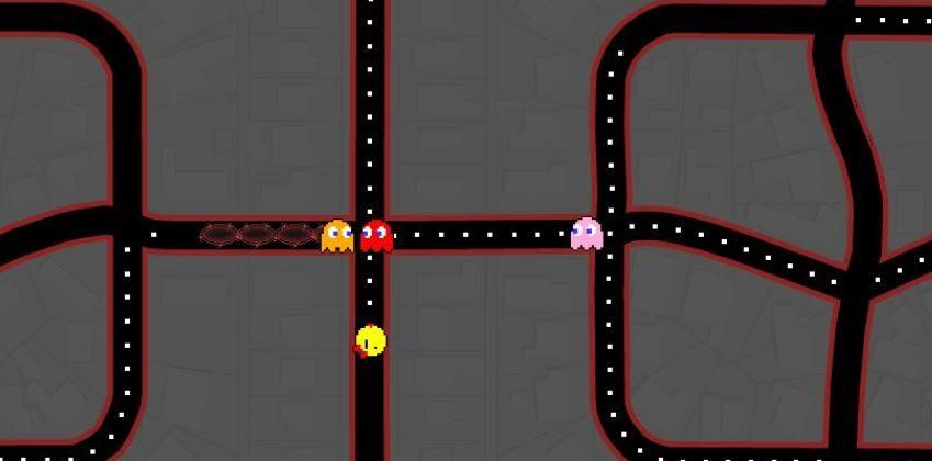 Ms. Pac-Man pays a visit to Google Maps today
