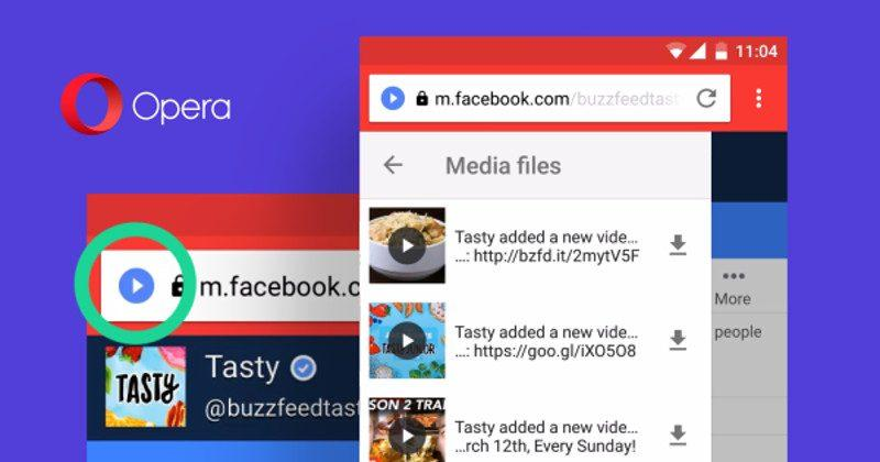 Opera Mini is getting a built-in Download Helper