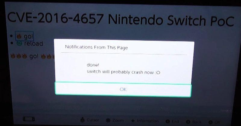 The Nintendo Switch has already been hacked somewhat