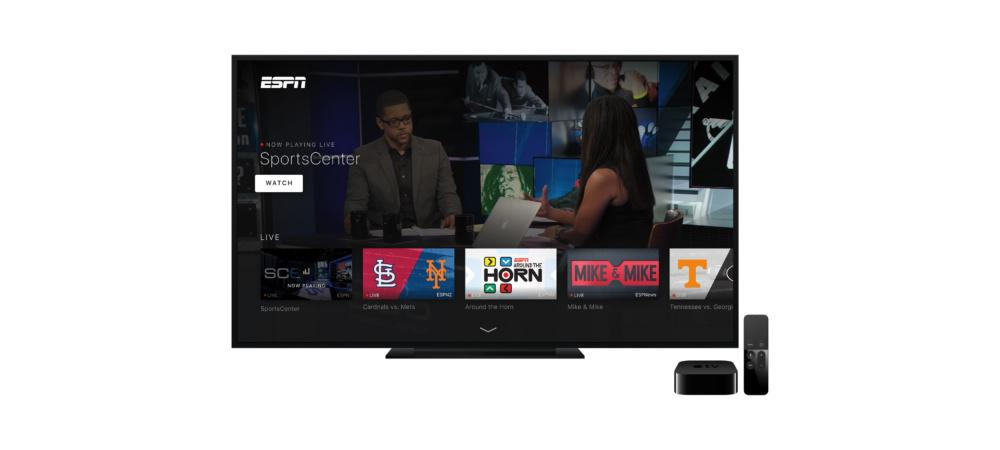 ESPN's new Apple TV app offers livestreaming auto-play