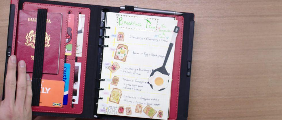 Lockbook is an old school paper notebook with biometric security