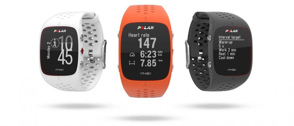 Polar M430 is a GPS fitness wearable for runners