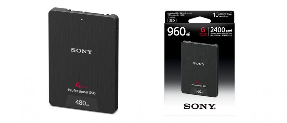 Sony G Series Professional SSDs launch for 4K video recording
