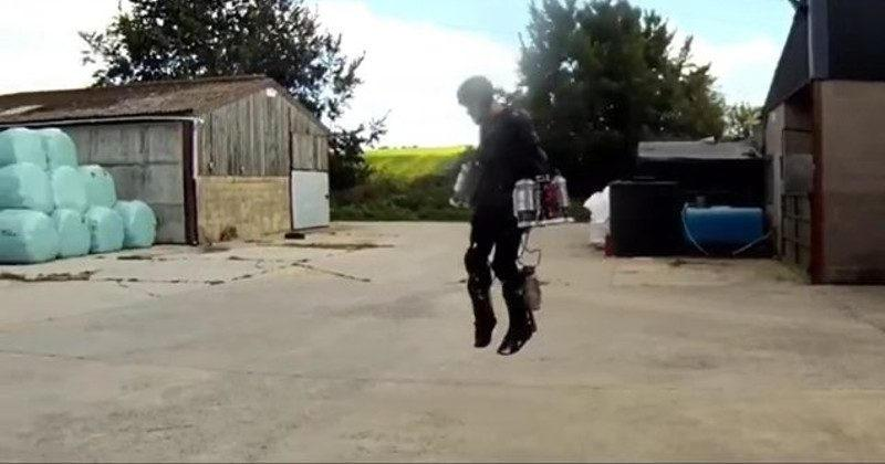 Richard Browning becomes Iron Man with jet-powered suit