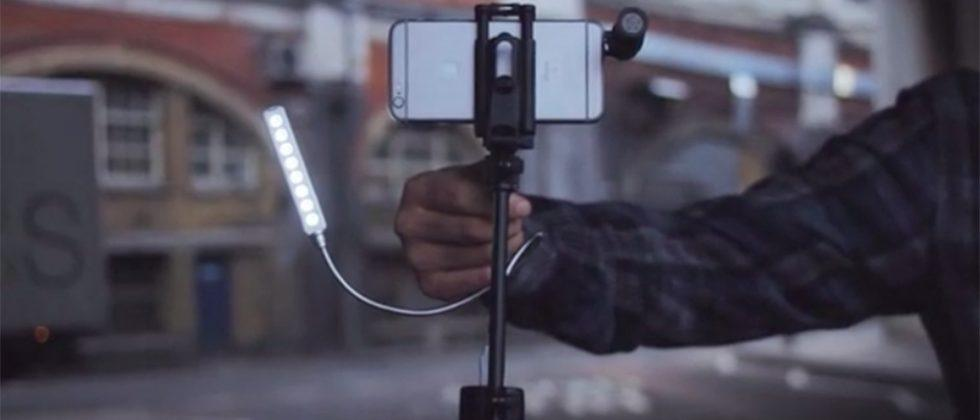 miniRIG is a portable video stabilizer for smartphones and action cameras