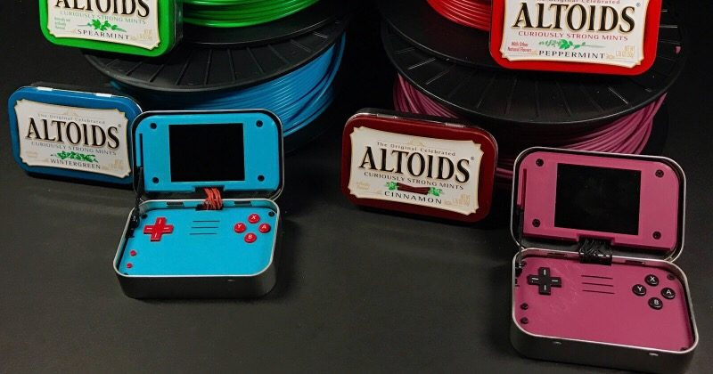 mintyPi hides a gaming device inside Altoid tins