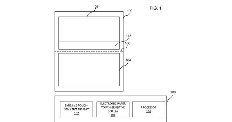 Microsoft patents a tablet with dynamic e-ink keyboard cover