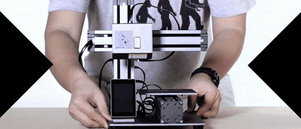 Snapmaker is a 3D printer that can also do engraving and CNC carving