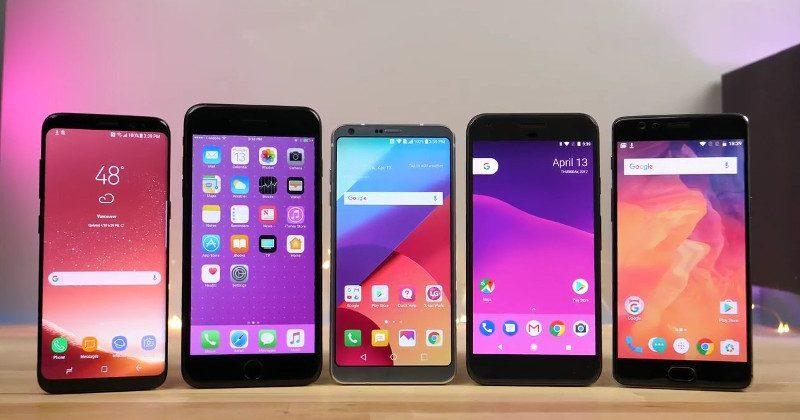 Galaxy S8, iPhone 7 Plus, Google Pixel, OnePlus 3T speeds tested