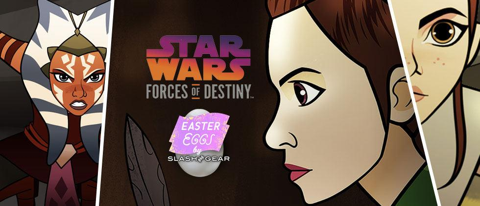 Star Wars Forces of Destiny and the first Easter Eggs, Actors, and Trivia