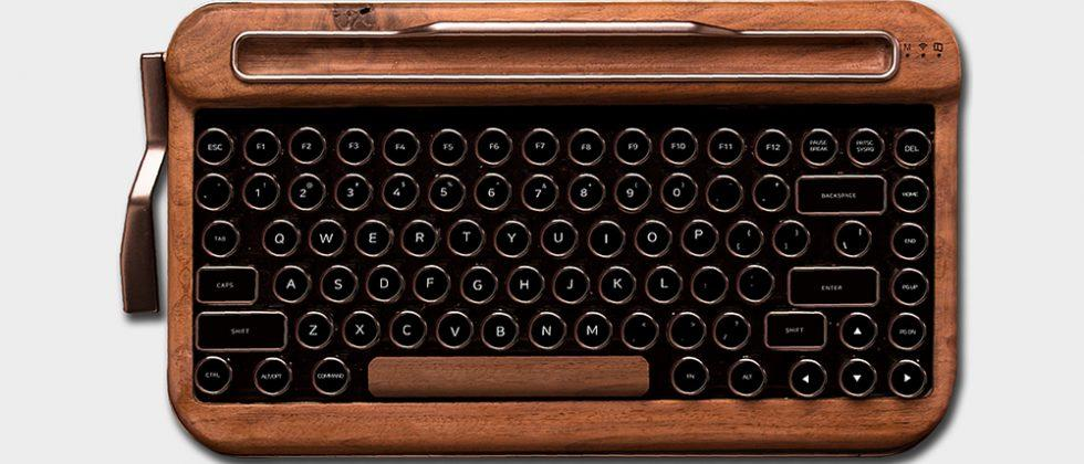 Penna is a retro Bluetooth keyboard that looks swiped from a typewriter