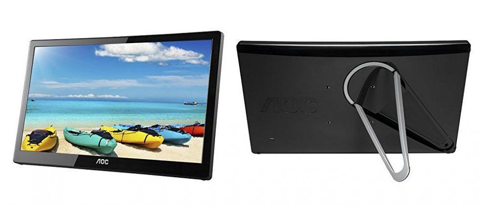 AOC unveils 16″ portable USB 3.0 monitor