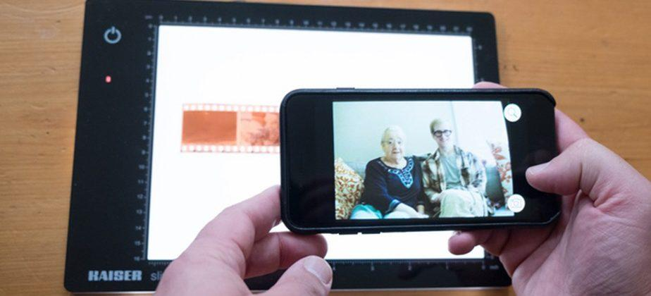 FilmLab app turns film negatives into full-size color images using a phone